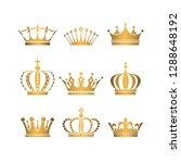 set of gold crowns. | Shutterstock .eps vector #1288648192