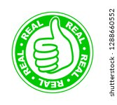 real thumbs up stamp | Shutterstock .eps vector #1288660552