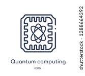 linear quantum computing icon...   Shutterstock .eps vector #1288664392