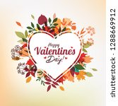 valentine's day greeting card...   Shutterstock .eps vector #1288669912
