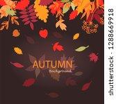 autumn leaves stylized... | Shutterstock .eps vector #1288669918