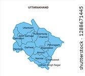 uttarakhand map graphic   vector | Shutterstock .eps vector #1288671445