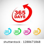 three hundred and sixty five... | Shutterstock .eps vector #1288671868
