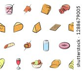 american food  cheeses  drinks  ...   Shutterstock .eps vector #1288679005