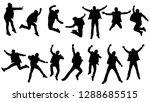 silhouettes group of young man... | Shutterstock .eps vector #1288685515