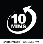 ten minutes icon | Shutterstock .eps vector #1288687795