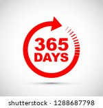 three hundred and sixty five... | Shutterstock .eps vector #1288687798