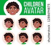 black  afro american boy avatar ... | Shutterstock .eps vector #1288694875