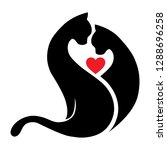 abstract  cats love. logo icon | Shutterstock .eps vector #1288696258