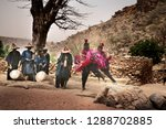 typical funerary dance of the... | Shutterstock . vector #1288702885