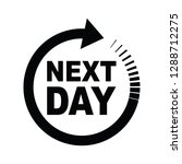 next day icon | Shutterstock .eps vector #1288712275