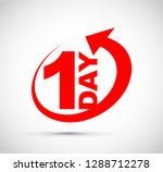 one day icon | Shutterstock .eps vector #1288712278