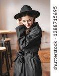 woman in hat beauty portrait ... | Shutterstock . vector #1288715695