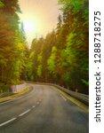 highway road journey in green...   Shutterstock . vector #1288718275