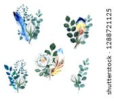 watercolor ready compositions... | Shutterstock . vector #1288721125