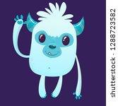 cute cartoon monster. vector... | Shutterstock .eps vector #1288723582
