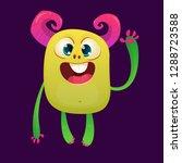 cartoon funny monster.... | Shutterstock .eps vector #1288723588