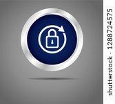 lock button blue icon      Shutterstock .eps vector #1288724575