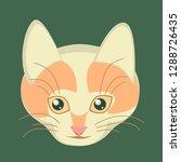 muzzle ginger smiling cat.... | Shutterstock .eps vector #1288726435