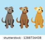 Set Of Sitting Puppy Images In...