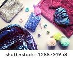 bright composition of fashion... | Shutterstock . vector #1288734958