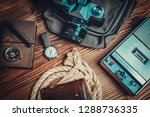 traveler or adventurer ou tfit... | Shutterstock . vector #1288736335