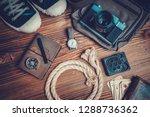 traveler or adventurer... | Shutterstock . vector #1288736362