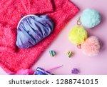 bright composition of fashion... | Shutterstock . vector #1288741015