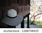 beautiful fashion woman's hat ... | Shutterstock . vector #1288748425