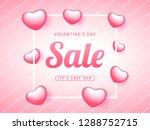sale poster or banner design... | Shutterstock .eps vector #1288752715