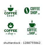 coffee shop logos. use for your ...   Shutterstock .eps vector #1288755862