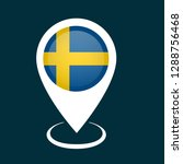 glossy sweden map pointer | Shutterstock .eps vector #1288756468