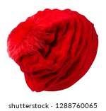 knitted hat isolated on white ... | Shutterstock . vector #1288760065