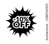 10  off sticker label.   Shutterstock .eps vector #1288764355