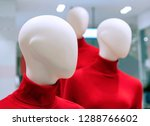 mannequins in red sweaters in... | Shutterstock . vector #1288766602