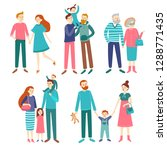 family couples. father and... | Shutterstock . vector #1288771435