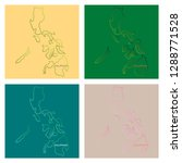flag map of philippines | Shutterstock .eps vector #1288771528
