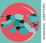rose moon art | Shutterstock .eps vector #1288772392
