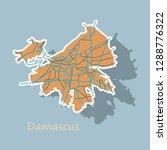sticker map illustration design ... | Shutterstock .eps vector #1288776322