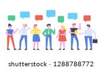business people discussion on...   Shutterstock .eps vector #1288788772