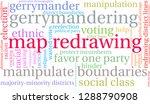 map redrawing in gerrymandering ... | Shutterstock .eps vector #1288790908