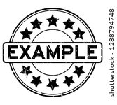 grunge black example word with... | Shutterstock .eps vector #1288794748