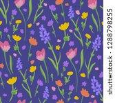 flower pattern. endless... | Shutterstock .eps vector #1288798255