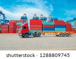 container logistics trade.... | Shutterstock . vector #1288809745