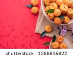 orange fruit with spring... | Shutterstock . vector #1288816822