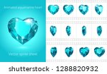 vector sprite sheet of rotating ... | Shutterstock .eps vector #1288820932