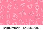seamless pattern with baby... | Shutterstock . vector #1288830982