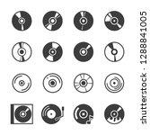 cd disk icon set | Shutterstock .eps vector #1288841005
