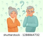 thinking seniors couple.... | Shutterstock .eps vector #1288864732