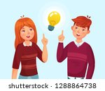 young people have idea.... | Shutterstock .eps vector #1288864738